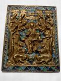 Меднолитая икона Седмица 19 век Евпатория
